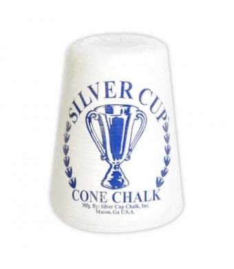 Hathaway Silver Cup Cone Talc Chalk, White