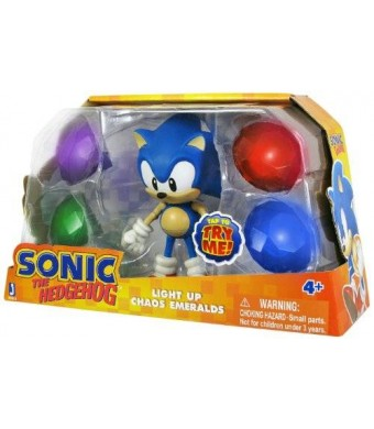 """Sonic with Light Up Emerald 5"""" Action Figure"""