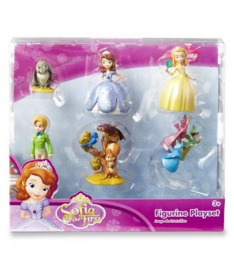 Disney Sofia the First Princess 6 pc Figurine Figure Set