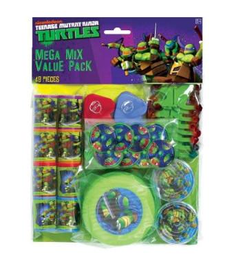 Amscan Teenage Mutant Ninja Turtle Mega Mix Favor Pack (48) Pieces Birthday Party