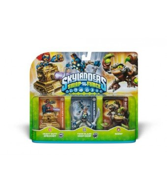 Activision Skylanders SWAP Force Triple Character Pack: Scorp, Twin Blade Chop Chop, Heavy Duty Sprocket