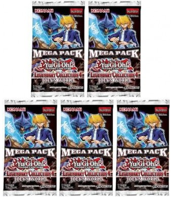 Konami YuGiOh 5x Legendary Collection 4 Joey's World Mega Pack Booster Packs LC04 LCJW