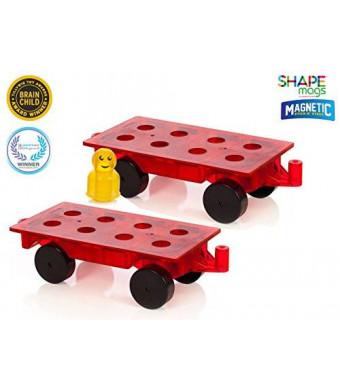 Award Winning Magnetic Stick N Stack - Set of 2 Wheel Bases + 16 Figures