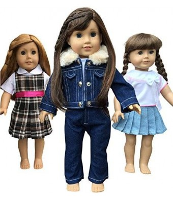 In-Stlye Doll Clothes In-Style Doll Clothes for American Girl Dolls, 3 Outfits, 18-Inch