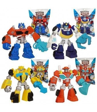 Playskool Heroes, Transformers Rescue Bots Figures, Set of 4: Optimus Prime, Bumblebee, Heatwave the Fire-Bot, and Chase the Police-Bot, 3.5 Inches