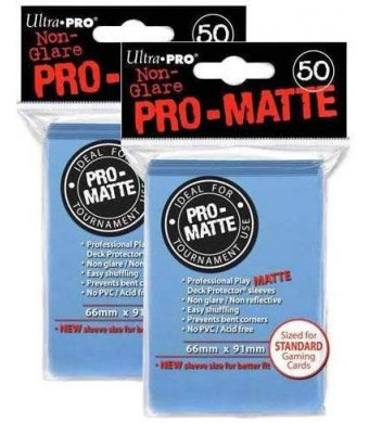 Ultra Pro PRO-MATTE (100 Count) Light Blue Deck Protector Sleeves - Magic the Gathering