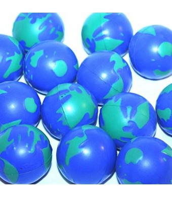 Dazzling Toys World Globe Relax Balls - 12 Pack (D035)