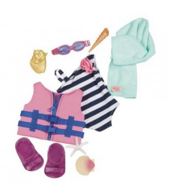 Our Generation Doll Outfit - Bathing Suit and Life Vest Outfit