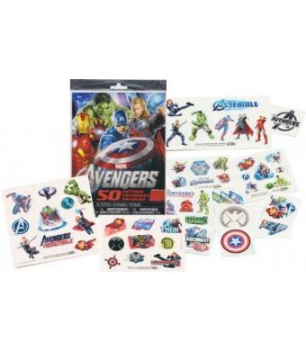 Marvel AVENGERS Temporary Tattoos - 50 Tattoos - Iron Man, Thor, Hulk, Captain America and more! by Savvi