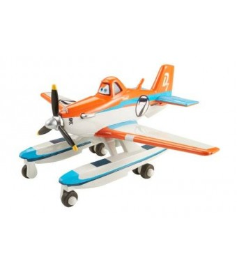 Mattel Disney Planes Fire and Rescue Racing Dusty with Pontoons Die-cast Vehicle