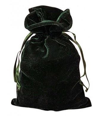 """Paper Mart Tarot Bags: Hunter Green Luxury Velvet 6"""" X 9"""""""