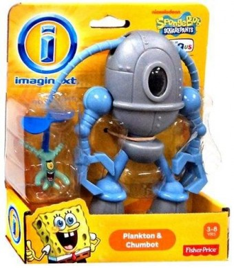 Imaginext, SpongeBob Square Pants Exclusive Figures, Plankton and Chumbot