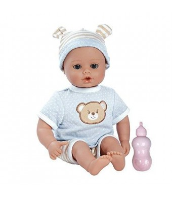 """Adora Playtime Baby- Beary Blue, 13"""" Washable Soft Body Play Doll for Children 12 months and up, with Bottle"""