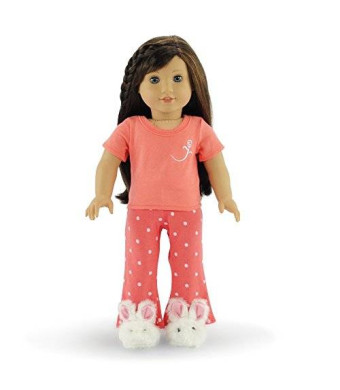 """Emily Rose Doll Clothes 18 Inch Doll Clothes Coral Pajamas 