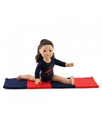 Emily Rose Doll Clothes 18 Inch Doll Clothes/clothing Leotard with Gymnastics Tumbling Mat Fits American Girl Dolls