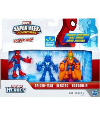 Marvel Playskool Super Hero Adventures Exclusive Mini Figure 3-Pack Spider-Man, Electro and Hobgoblin