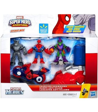 Marvel Playskool Super Hero Adventures Villain Showdown Exclusive Launcher Showdown 3-Pack Spider-Man