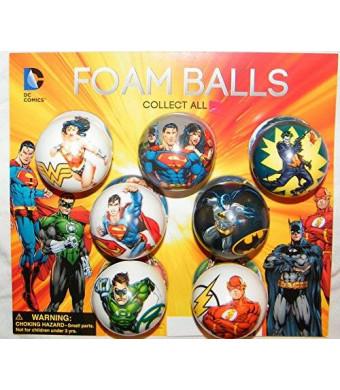 Super Hero Batman, Superman, Justice League DC Superhero Figure Soft Foam Ball Toys Collection of 12