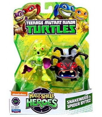 Teenage Mutant Ninja Turtles Pre-Cool Half Shell Heroes Snakeweed and Spider Bytez Figures