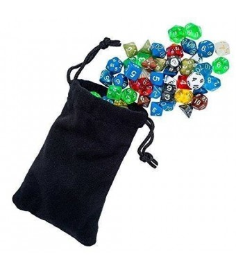 Easy Roller Dice Co. Easy Roller Dice Polyhedral Dice for Dungeons and Dragons and Math Dice Games, 105 Pieces, Color may vary