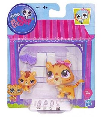 Littlest Pet Shop Figures Orange Tiger and Baby Tiger