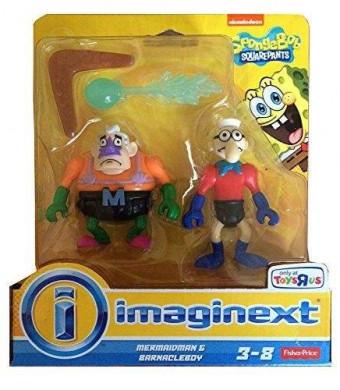 Imaginext, SpongeBob Square Pants Exclusive Figures, Mermaidman and Barnacleboy, 2-Pack