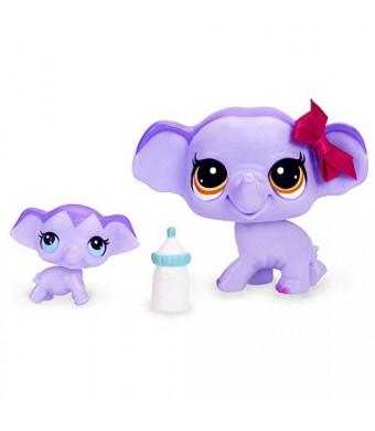 Littlest Pet Shop Elephant and Baby Elephant Figure Set