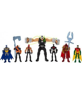Mattel DC Comics Batman Gotham City Bane Battle Figures 7-Pack