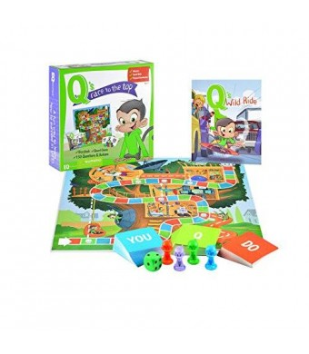 EQtainment Q's Race to the Top Boardgame with Book