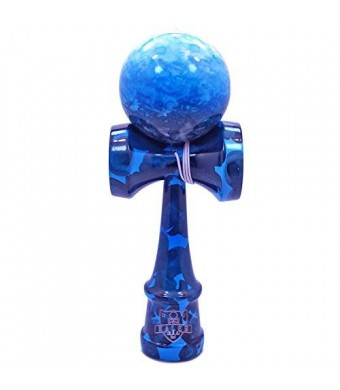 Kaleb USA Full Blue Ocean Marble Kendama And Extra String