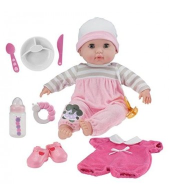 "JC Toys Berenguer Boutique 15"" Soft Body Baby Doll - 10 Piece Gift Set with Open/Close Eyes- Perfect for Children 2+"