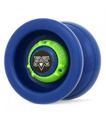 YoYoFactory Velocity (Blue with Lime Green Dial)