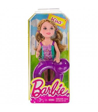 "Kira w/ Whale Inner Tube: Barbie Chelsea and Friends Pool Collection ~5.25"" Doll Figure"