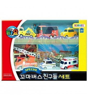 ICONIX Little Bus TAYO FRIENDS Special Mini 6 Pcs Toy Set (Citu + Alice + Nuri + Pat + Toto + Frank)