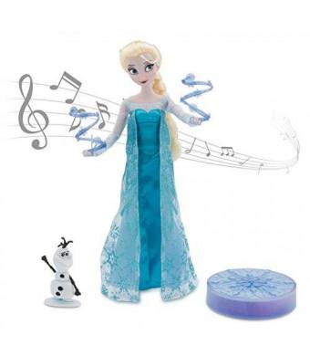 "Disney Frozen Elsa Deluxe Singing Doll Set Olaf - 11"" Sings and Glows"