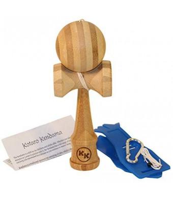 Kotaro Kendama Kotaro Pro Bamboo Kendama Toy with Extra String and Holster