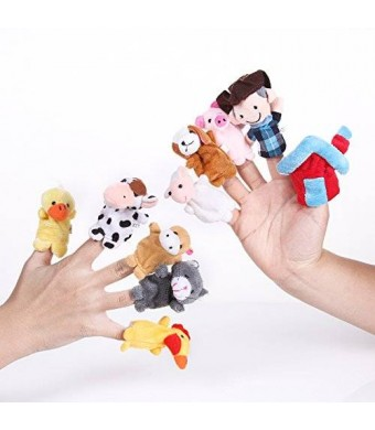 """Foto4easy Story Telling """"Old Macdonald Had a Farm"""" Finger Puppets Nursery Rhyme Toys (10 pcs)"""