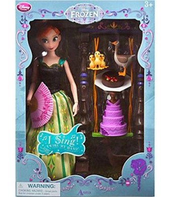 Disney Frozen Anna Deluxe Singing Doll Set