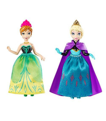 Mattel Disney Frozen Princess Sisters Celebration Anna and Elsa Small Doll, 2-Pack