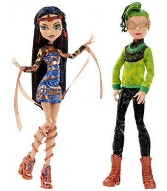 Monster High Boo York, Boo York Comet-Crossed Couple Cleo de Nile and Deuce Gorgon Doll, 2-Pack (Discontinued by manufacturer)