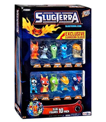 Slugterra, Exclusive Slug Figures 10-Pack [Includes 3 Exclusive Guardian Slugs]