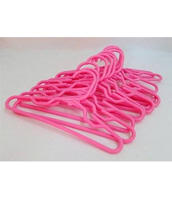 Dori's Doll Boutique Doll Hangers Set of 12 Plastic Hangers Pink, Fits 18 Inch American Girl Dolls Clothes, Doll Accessories