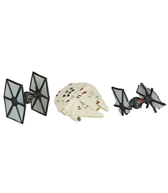 Star Wars The Force Awakens Micro Machines 3-Pack First Order TIE Fighter Attack