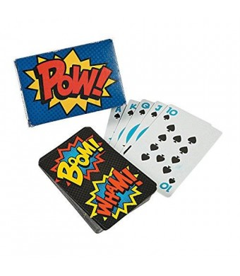 Novelty Toys Superhero Playing Cards Party Favors - 12 packs