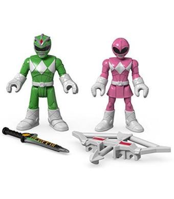 Fisher-Price Imaginext Power Rangers Green Ranger and Pink Ranger Figures