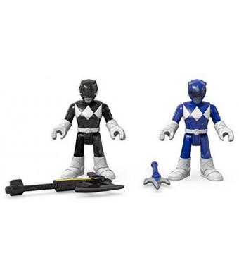 Fisher-Price Imaginext Power Rangers Blue Ranger and Black Ranger Figures