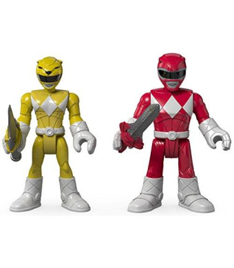 Fisher-Price Imaginext Power Rangers Red Ranger and Yellow Ranger Figures