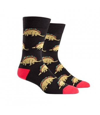 Animewild Sock It To Me Tacosaurus Mens Crew Socks