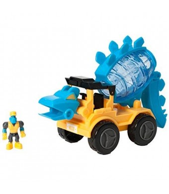 EDUCATIONAL INSIGHTS DINO CONSTRUCTION COMPANY HELIX THE STEGOSAURUS CEMENT MIXER