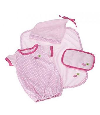 JC Toys Pink Sleep Sack Set (4-Piece)